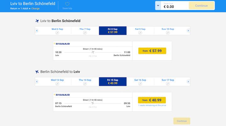 Ryanair открывает новые рейсы из Украины