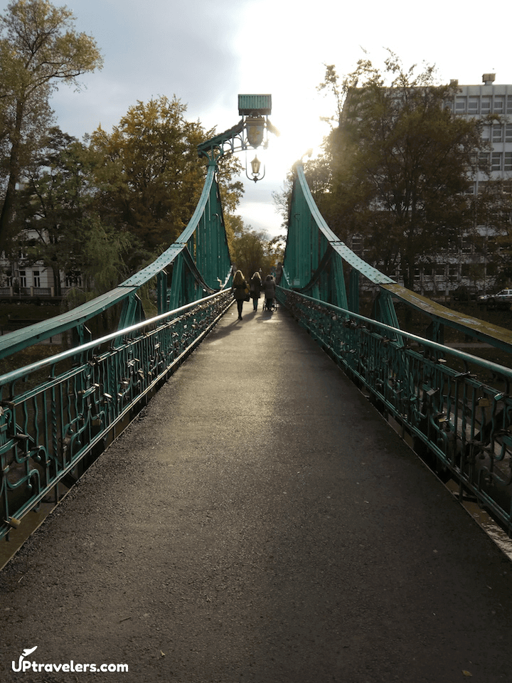 Мост над рекой в Ополе