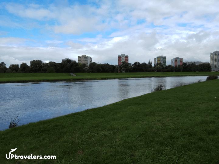 Река Одра, набережная
