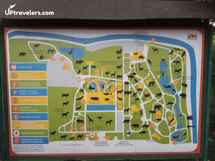 Зоопарк Вроцлава: карта достопримечательностей