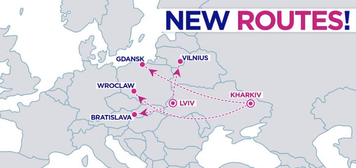 Новые маршруты от WizzAir: из Харькова и Львова