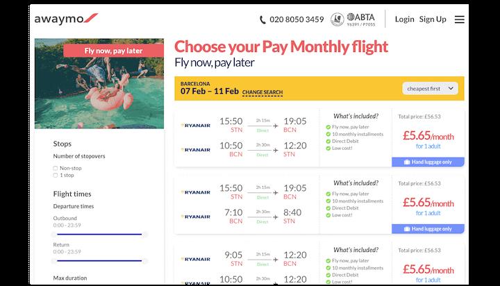 Awaymo - авиабилеты в рассрочку онлайн