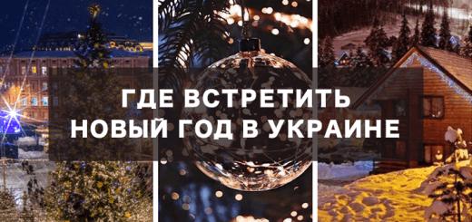 Где встретить Новый год в Украине недорого